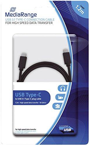 MediaRange 670604440014 - Cable USB 1.2 m (Tipo C) Color Neg