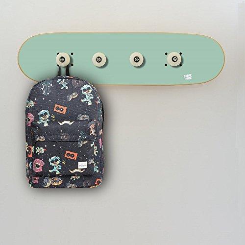 Wandgarderoben Dekoration Skateboard für Skaters, garderoben grün