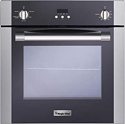 """Magic Chef Electric MCSWOE24S 24"""" 2.2 cu. ft. Single Wall Oven with Convection, Stainless Steel"""