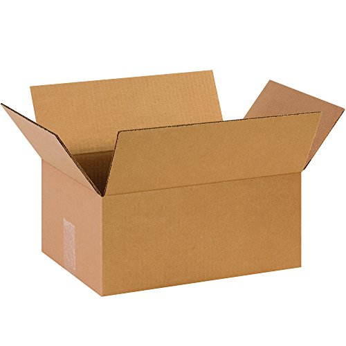 Partners Brand P14106 Corrugated Boxes, 14'L x 10'W x 6'H, Kraft (Pack of 25)