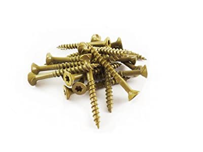 WoodPro Fasteners AP9X212-1 #9 by 2-1/2-Inch All Purpose Wood Construction Screws, T25, 1LB Net Weight,Gold