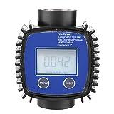 Medidor de flujo digital de 1', medidor de flujo diesel de agua de alta precisión multipropósito, medidor de flujo para manguera de jardín, para diesel, gasolina, urea, líquido químico, agua, aceite