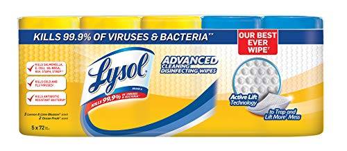 Lysol Advanced Cleaning Disinfecting Wipes Variety Pack, 5 pk./72 ct.