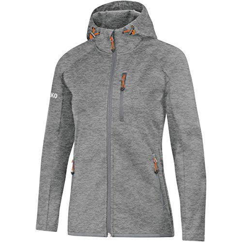 JAKO Damen Softshelljacke Light Softshell-jacken, grau meliert, 40