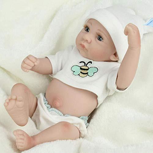 Zwbfu Bebê Renascido,Boneca renascida realista de 10 polegadas de brinquedo corporal macio feito à mão, menino renascido