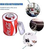 Usb Kühlschrank,Kühlschrank Getränkekühler Coca Cola Kühlschrank -Mini-USB-Kühlschrank - Auto...