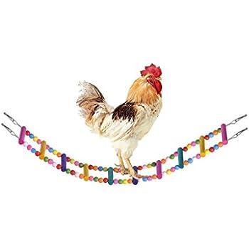 BWOGUE Wooden Chicken Flexible Ladder,Parrot Chicken Swing,Pet Toy