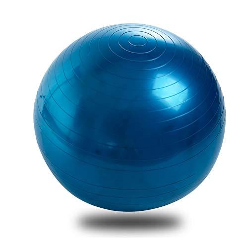 LIZHOUMIL Pelota de yoga para mujer, pilates, equilibrio, fitness, yoga, pelota con bomba para fitness, ejercicio, pilates, entrenamiento, masaje, color azul