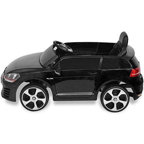 RC Kinderauto kaufen Kinderauto Bild 1: SENLUOWX Kinderauto Elektroauto VW Golf GTI 7 schwarz 12 V Kinderfahrzeug Kinderauto mit Fernbedienung*
