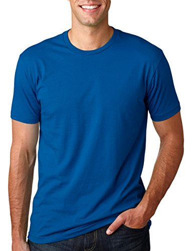 Next Level Mens Premium Fitted Short-Sleeve Crew T-Shirt - X-Large - Cool Blue