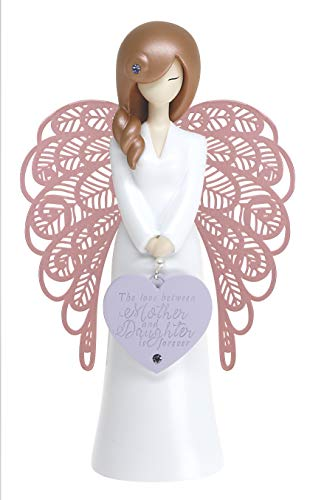 """""""The Love Between Mother and Daughter is Forever"""" Decorative Angel Ornament"""