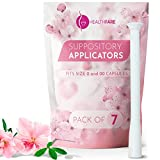 HealthFare Disposable Vaginal Applicators (7-Pack)   Fits Capsules & Most Brands, Tablets and Boric Acid Suppositories   Individually Wrapped