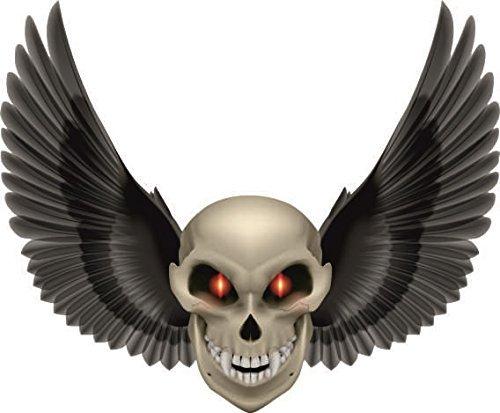 U24 Aufkleber Vampir Totenkopf mit Flügel Pirat Skull Autoaufkleber Sticker