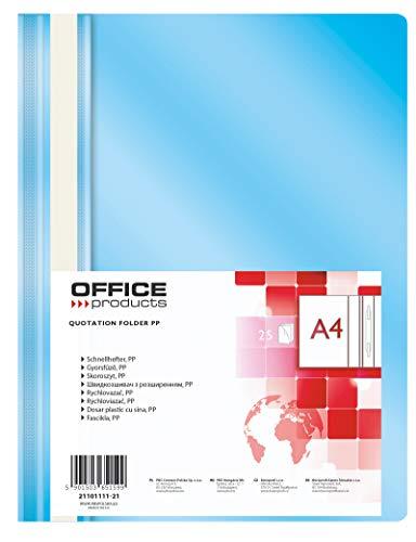Office Products 21101111-21 Plastik Schnellhefter A4 Hellblau