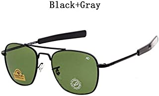 145939fc87 2018 Newest Military AO Brand Sunglasses Men Optical Glass Lens Metal Alloy  Frame Pilot Sun Glasses