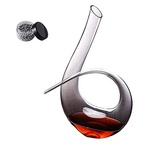 Decantador de vino tinto 6 formas 1260ml Perlas de limpieza de acero inoxidable gratis