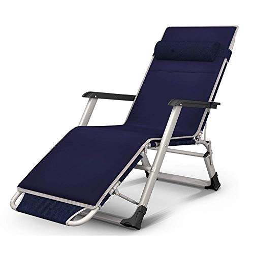 Silla reclinable plegable, sombrilla plegable de metal Sillón reclinable de jardín para camping y jardín Sillón reclinable reclinable para ocio Lazy Beach Silla de oficina, ajuste de 3 engranajes