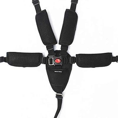 Bebé 5 Puntos Cinturón Seguridad Con correa de hombro almohadillas y guardia pad punto ajustable para bebé Kid Safe para Trona, Cochecito y Silla de Paseo