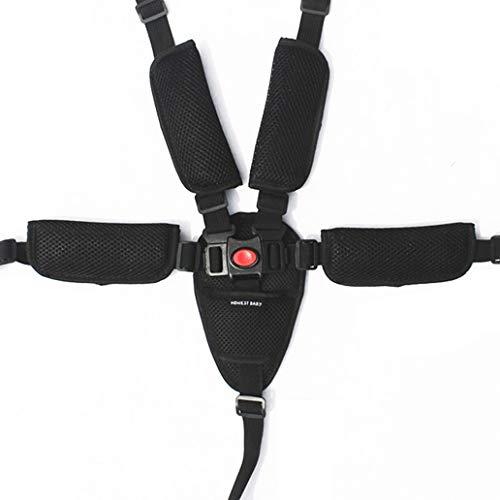 Silingsan 5 Punti Cintura Sicurezza Bambini con Imbottitura Delle Spalle Bambino Sicuro Cintura Regolabile, per Carrozzina, Passeggino, Seggiolino