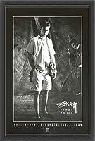 ポスター ステューシー ステューシー20th Anniversary プリント05 額装品 ウッドベーシックフレーム(ブラック)