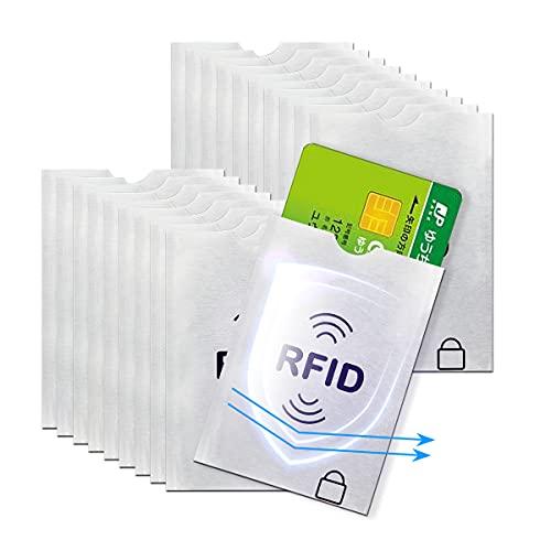 LANMU 20枚 スキミング防止ケース カードケース スキミング防止 磁気防止 ICカード干渉防止 磁気エラー防止カードケース RFID&磁気スキミング防止 icカードケース/クレジットカード 読取エラー防止 予防対策ケース カードサイズ カードデータ保護