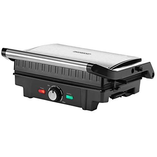 Monzana Parrilla eléctrica multifunción grill para asar carne paninis bocadillos sandwichera barbacoa...