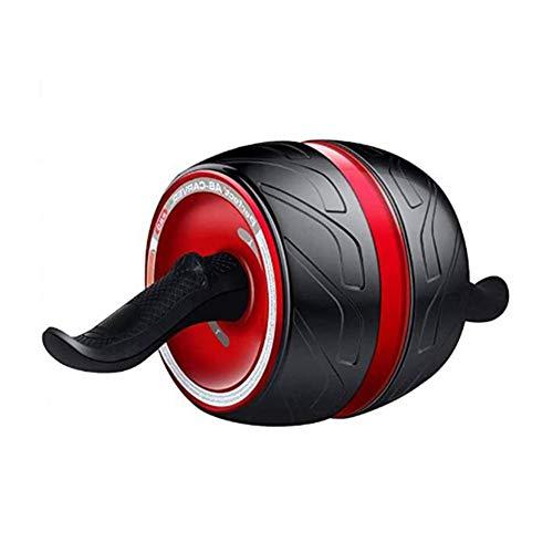 Abdominal-Übungsrolle, automatisches Abprall-Ab-Roller-Übungsrad, extrem leises Bauch-Übungsgerät, Doppelrad mit ABS-gebogenem Anti-Rutsch-Griff für das Heim-Fitnessstudio