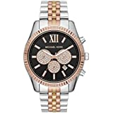 Michael Kors Men's Lexington Quartz Watch with Stainless Steel Strap, Multi, 22 (Model: MK8714)