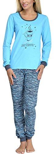 Merry Style Pijamas Conjunto Camisetas Mangas Largas y Pantalones Largos Ropa de Dormir de Cama Lencería Mujer 1022