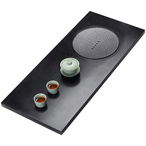 Affordable Black Stone Tea Tray Draining Tea Table Office Rectangular Tea Table Chinese Kung Fu Tea ...