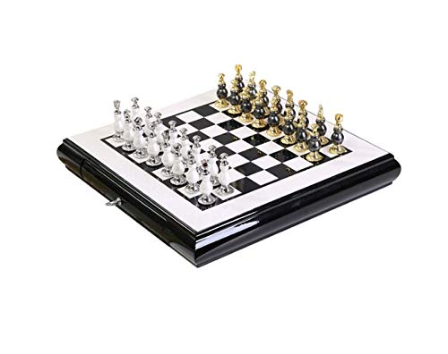 SHENGDAFASHANGCHENG Chess Set, Chessboard Game, Deluxe Portable Chess-Backgammon-Draughts Set, Puzzle Educational Gift for Kids