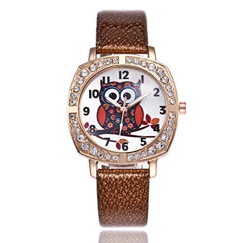 FDIJM Student Fashion Nette Frauen-Leder-Band-Analoge -Runde Armbanduhr-Uhren, Bw