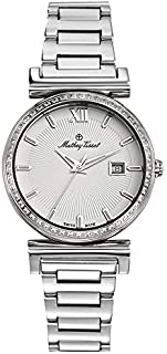 Mathey Tissot Elegance Women's White Dial Stainless Steel Band Watch - D410aQI