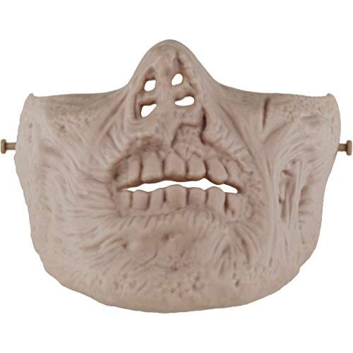 BESPORTBLE Halloween-Schablone unheimlich Maskerade Gesichtsmaske halb kleiden Parteischablone Cosplay Schädel-Maske für Spiel Paintball