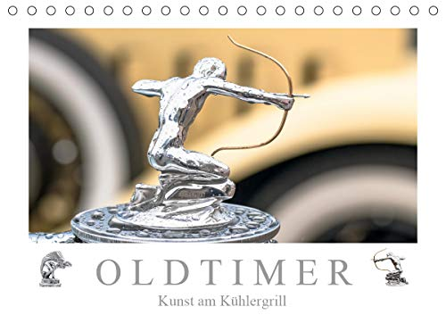 Oldtimer - Kunst am Kühlergrill (Tischkalender 2021 DIN A5 quer)