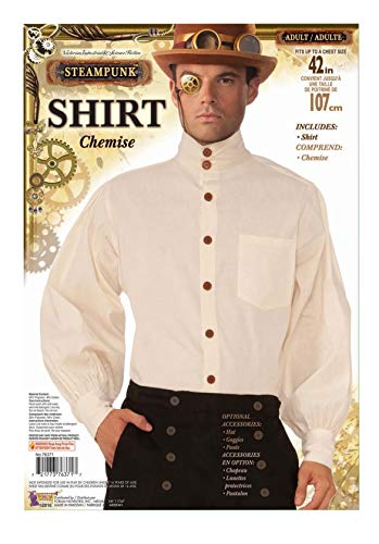 Forum Novelties X76371 Steampunk Hemd, beige, UK Chest Size Up to 42