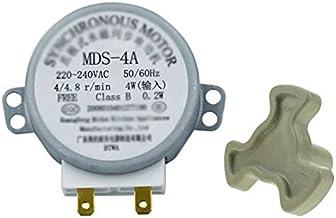 Reemplazo de Horno microondas MDS-4A AC220-240V 4/4.8RPM Micro Bandeja giratoria Motor síncrono de microonda Accesorios Repuestos Piezas de la Base de Acoplamiento del Embrague Universal