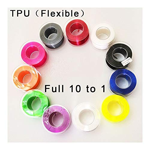 Love lamp TPU Filament Flexible Soft 3D Printing Material Tpu Filament 1.75mm Flex EP Material 3D Printer Plastic Line Rubber Filament 3D Printer Filament (Color : Gray)