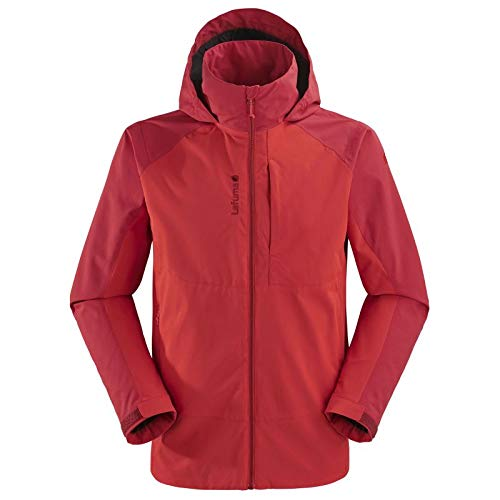 Lafuma - Way JKT M - Veste Hardshell Homme, FR : XL (Taille Fabricant : XL), Rouge (Vibrant Rouge/Barn), XL