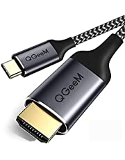 USB Type C HDMI 変換 アダプター USB C to HDMIケーブル 6ft(1.8メートル) 編組4K@60hz HDMIケーブル(Thunderbolt 3互換) MacBook Macbook Pro iMac Chromebook Pixel Galaxy Note 8 / s8 Plus / s8 Huawei Mate 10対応