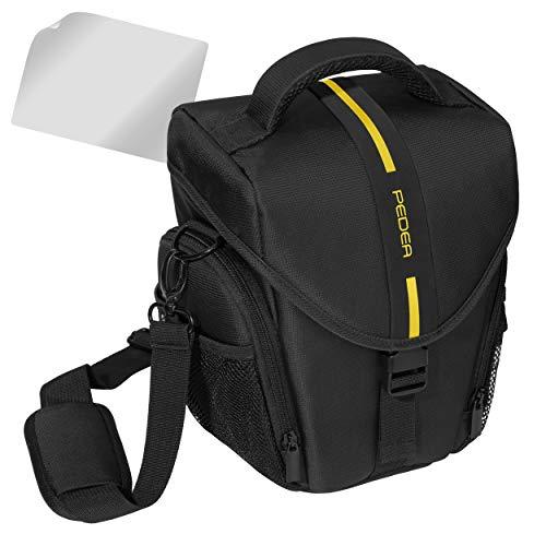 PEDEA - Funda para cámara SLR y protector de pantalla, tamaño L, color amarillo