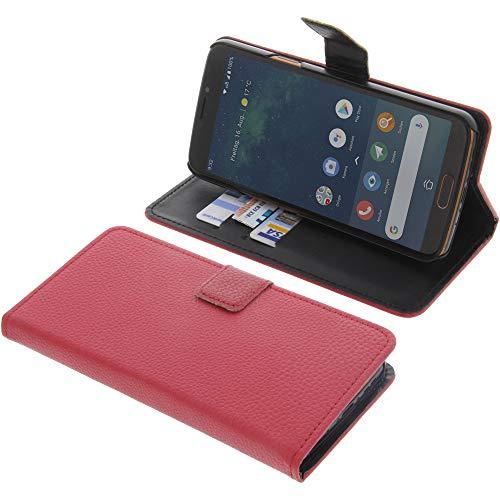 foto-kontor Tasche für Doro 8080 Book Style rot Kreditkarte Schutz Hülle Buch