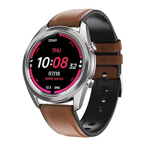 YXJ DT91 Smart Watch Llamada Bluetooth ECG Rastro Cardíaco Monitor Rastreador De La Intención para iOS Android Teléfono,B