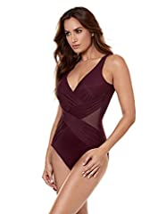 SIZING: Order a swimsuit in your usual size for the most comfortable and slimming fit. Sizing up is suggested depending on your fit preference or if you prefer a less snug fit. For bust, measure across the fullest part of the breast. For waist, measu...