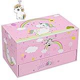 songmics, scatola per gioielli, 19 x 10,2 x 10,5 cm