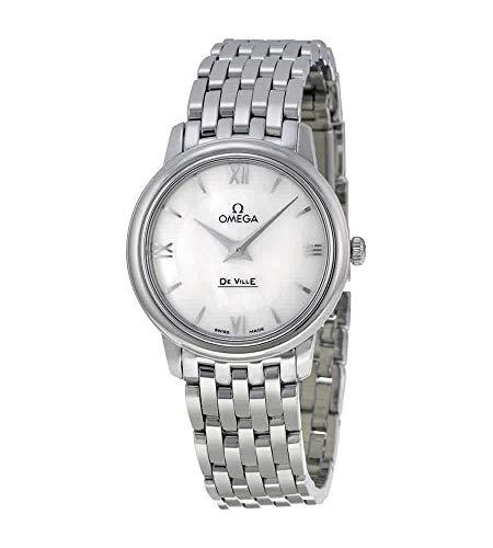 Omega De Ville Prestige Mother of Pearl Dial Stainless Steel Ladies Watch...