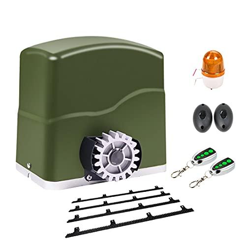 TOPENS RK700T - Mecanismo para puerta corredera (2 mandos a distancia, máx. 700 kg y longitud de la puerta: 12 m, con barra dentada de 4 m)