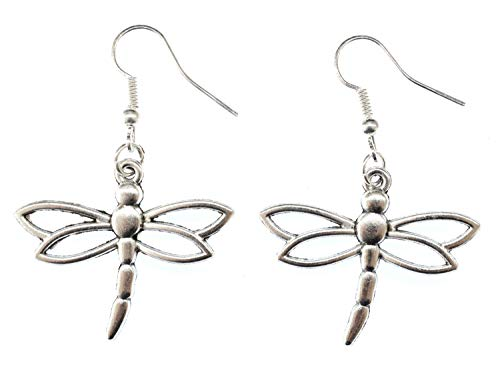 Pendientes de libélula Rs Perchas Miniblings Insectos Libélula Metall