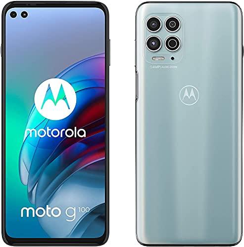 Motorola Moto G100 - Smartphone 128GB, 8GB RAM, Dual Sim, Iridescent Sky