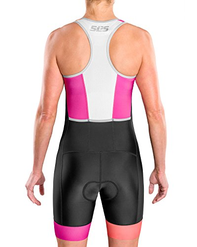 SLS3 Triathlon Einteiler Damen   FRT Trisuit   2 Taschen   Womens Trisuit   Triathlon-Anzug für Damen   Frauen Tri Suit - 3